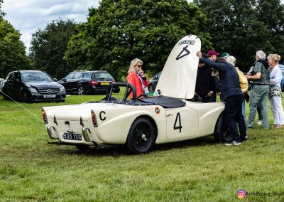 John Abel's race car receives close attention at Ragley Hall.